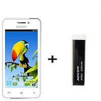Combo Of Adcom A400i - White + APB 2200mAh Powerbank- Black