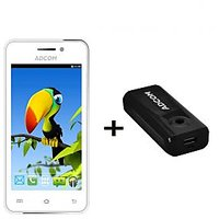 Combo Of Adcom A400i - White + APB 4400mAh Powerbank- Black