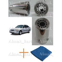 Car Exhaust Muffler Tip Pipe For Hyundai Accent - 3280 +Microfiber Clothes