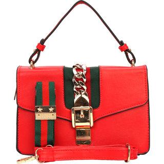 Bee fashionable Red Sidebag/Handbag for Women/Girls