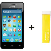 Combo Of Adcom A400 - Black + APB 2200mAh Powerbank- Yellow