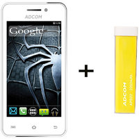 Combo Of Adcom A400 - White + APB 2200mAh Powerbank- Yellow