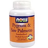 NOW Foods Pygeum And Saw Palmetto + Pumpkin Seed Oil, 120 Softgels