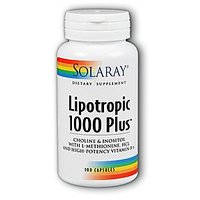 Solaray Lipotropic 1000 Plus -- 100 Capsules