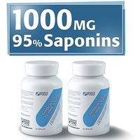 2x Tribulus Terrestris 1000mg X 90 Capsules, 95% Steroidal Saponins, 80%