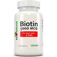 Biotin 5000 Mcg, 120 Vegetarian Capsules (for Hair Growth, Skin, And Nails)