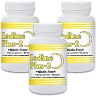 Natural Living Iodine Plus 2 For Low Thyroid - 3 Bottles