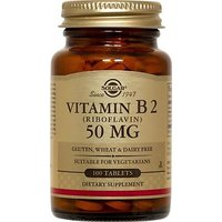 Solgar Vitamin B2 Riboflavin Tablets, 50 Mg, 100 Count