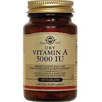 Solgar Dry Vitamin A 5000 IU Tablets, 100 Count