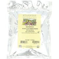 Starwest Botanicals Organic Alfalfa Leaf Powder, 1-pound Bags (Pack Of 2)
