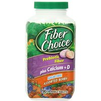 Fiber Choice Sugar Free Tablets Plus Calcium, Assorted Berry Flavors, 90 Count