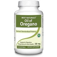 #1 Oregano Oil 250 Mg 120 Softgels By Best Naturals - Provides Digestive,