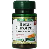 Nature's Bounty Natural Beta Carotene, 100 Softgels (Pack Of 3)