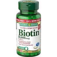 Nature's Bounty Biotin 10,000 MCG Softgels, 120 Count