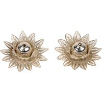 UFC Mart Floral Design Silver Polished Sindoor Box Pair