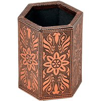 UFC Mart Oxidised Jaipuri Design Bronze Metal Pen Stand