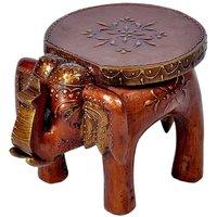 UFC Mart Designer Wooden Elephant Stool Handicraft Gift