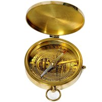 UFC Mart Travel Aid Real Brass Flat Compass With Lid