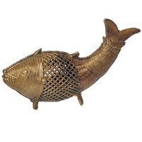 UFC Mart Exclusive Antique Designer Brass Fish Statue