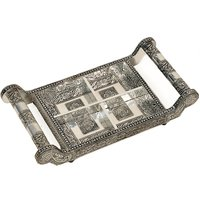 UFC Mart White Metal Dry Fruit Tray Handicraft Gift
