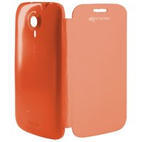 MOBITRIXX FLIP COVER CASE FOR MICROMAX A 116 CANVAS HD (ORANGE)