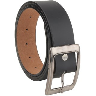 Super Tata Mens Black Leather Belt