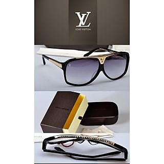 LOUIS VUITTON EVIDENCE Z0350W BLACK & GOLD UNISEX SUNGLASSES **100% AUTHENTIC**