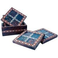 UFC Mart Antique Design Gemstone 4 Tea Coaster Set