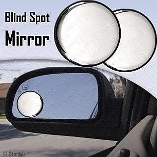 Car Blind Spot Side Rear View Mirror Black Corner