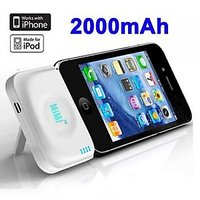2000mAh MiMi Power Bank External Battery Stand For IPhone 4 & 4S / 3G
