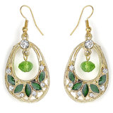 The Pari Green & Golden Earrings (Tper-595)