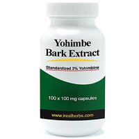 Yohimbe Bark Extract - Standardized To 3% Yohimbine Hcl - 100 Mg X 100 Capsules