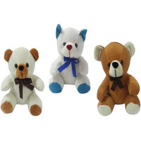 Set Of 3 Soft Teddy Bear