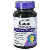 Natrol Biotin 10,000 Mcg 100 Tabs (3 Pack)