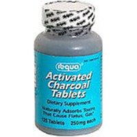 Requa Activated Charcoal, 250 Mg, 125 Tablets
