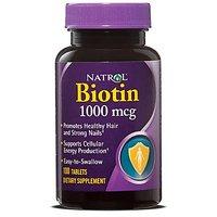 Natrol Biotin 1000 Mcg Tablets, 100-Count (Pack Of 2)