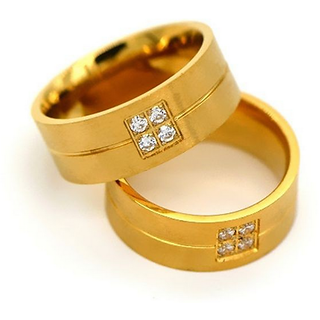 18KT Pure Gold Coated Auatralian Diamond Ring At Special Festival Offer - 4881720