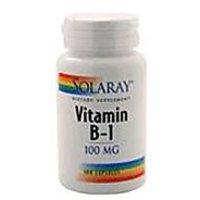 Solaray - Vitamin B-1, 100 Mg, 100 Capsules