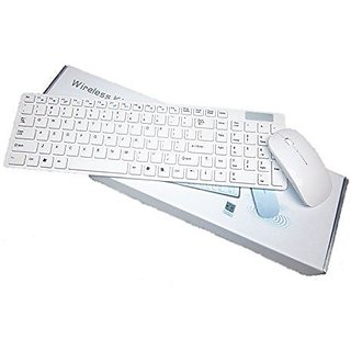 Frappel K688 Wireless Keyboard and Wireless Mouse Combo suitable for all Windows Operating sytem and Partially for Mac- White