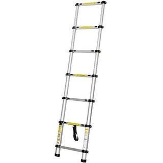 IBS Muulti-purpose 2M Household Adjustable Telescopic Portable Alloy Straight Aluminium Ladder