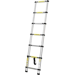 IBS Multi-puurpose 2M Household Adjustable Telescopic Portable Alloy Straight Aluminium Ladder