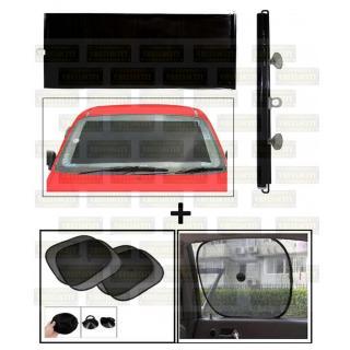 Universal Car Black Window Sunshades with Vacuum Cups (Set of 5)