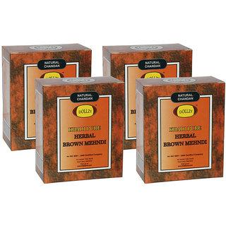 Khadi Pure Herbal Brown Mehndi - 80g (Set of 4)