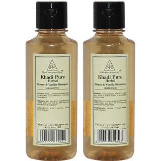 Khadi Pure Herbal Honey Vanilla Shampoo - 210ml (Set of 2)