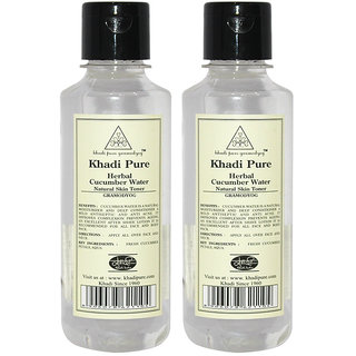 Khadi Pure Herbal Cucumber Water - 210ml (Set of 4)