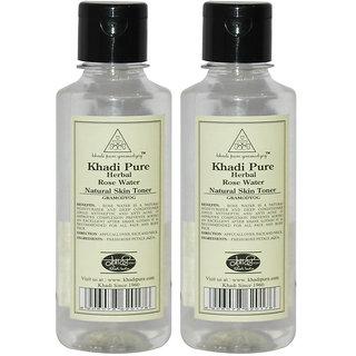 Khadi Pure Herbal Rose Water - 210ml (Set of 4)