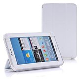 "Luxury Italian Style Belk Tri Fold Smart Case Cover For Samsung Galaxy Tab 2 7"" P3100 P6200 White"