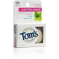 Tom's Of Maine Natural Waxed Antiplaque Flat Floss, Spearmint, 32-Yards (Pack
