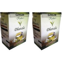 Dhavala Green Tea 200 Gms With Natural Ginger-set Of 2
