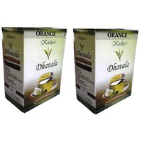 Dhavala Green Tea 200 Gms With Natural Orange-set Of 2
